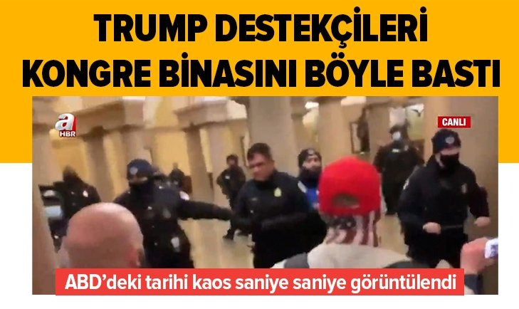 ABD'de tarihi kaos! Trump destekçileri Kongre binasını böyle bastı