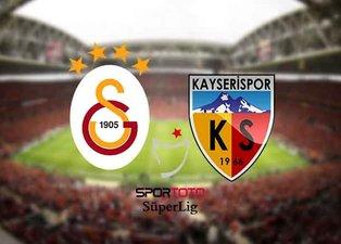 Galatasaray - Kayserispor maçı saat kaçta, hangi kanalda? Galatasaray -  Kayseri maçı muhtemel 11'ler