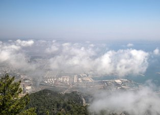 Antalya'da gökyüzü bu hale geldi! Son 75 yılın en sıcak eylülü