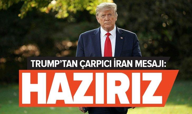 ABD BAŞKANI TRUMP'TAN ÇARPICI İRAN AÇIKLAMASI: HAZIRIZ