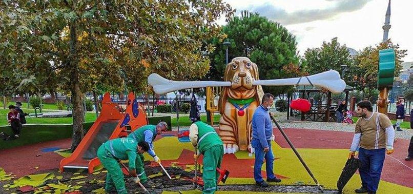 İstanbul Küçükçekmece'deki çocuk parkında PKK sembolleri! Üç sanığın hapsi istendi