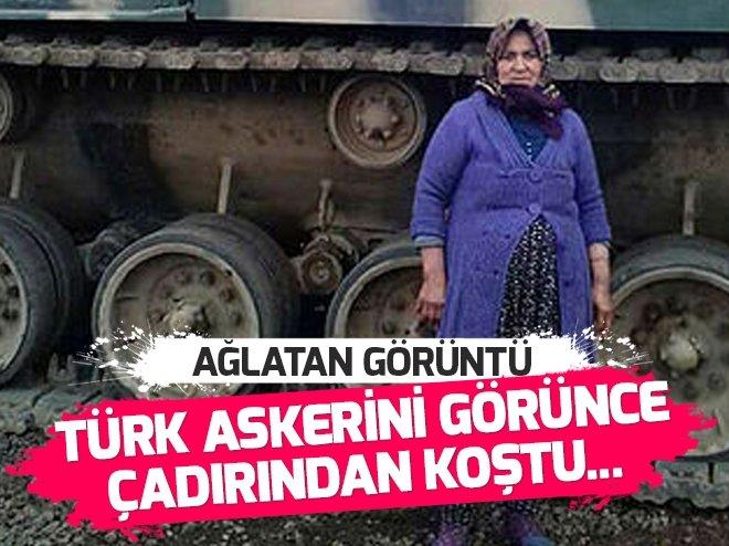 Yörük kadını Türk askerini kurban keserek uğurladı