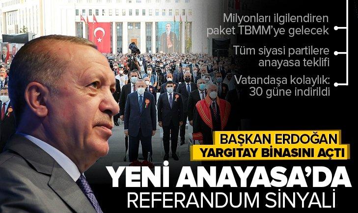 Başkan Recep Tayyip Erdoğan'dan yeni adli yıl açılış töreninde son dakika açıklamaları