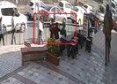 Karaköy'de saldırıya uğrayan başörtülü kızlar esnafa sığındı |Video