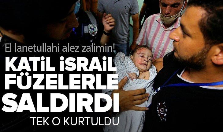 Katil İsrail'den sivil katliamı! Enkazdan 2 aylık bebek sağ kurtarıldı