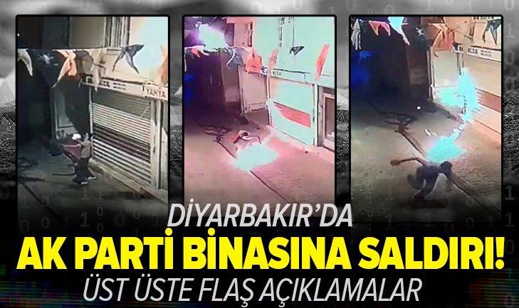 Sondakika: Diyarbakır'da AK Parti İlçe Başkanlığına molotoflu saldırı!