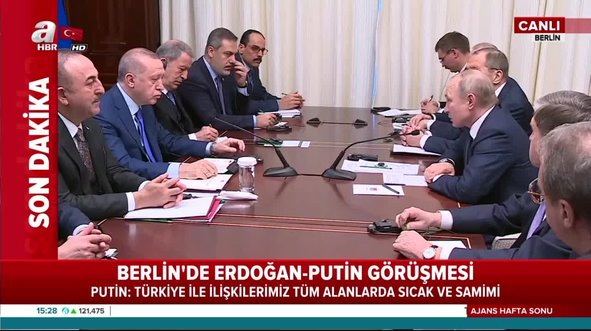 Erdoğan ve Putin Berlin'de konuştu