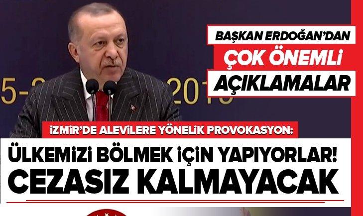 Erdoğan'dan Alevilere yönelik provokasyon hakkında açıklama