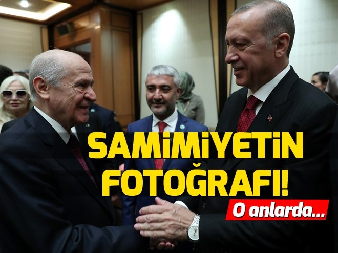 Cumhurbaşkanlığı Göreve Başlama Töreni'nden çarpıcı kareler! Başkan Erdoğan ve Devlet Bahçeli böyle poz verdi...