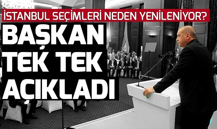 Başkan Erdoğan'dan İstanbul açıklaması: Oyları çaldılar
