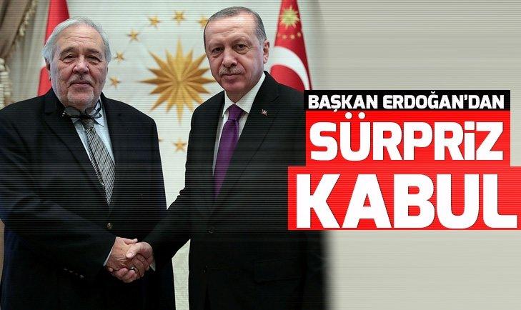 Başakan Erdoğan ile İlber Ortaylı görüştü