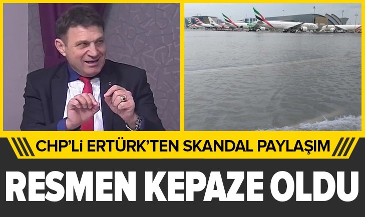 CHP'li Türker Ertürk'ten skandal paylaşım! İstanbul Havalimanı'nı karalamak isterken rezil oldu