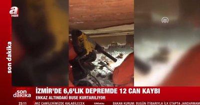 Son dakika: İzmir'deki depremde enkaz altında kalan Buse'nin kurtarılma çalışmaları