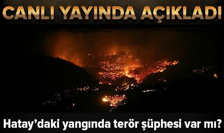 Hatay'daki yangından terör şüphesi var mı?
