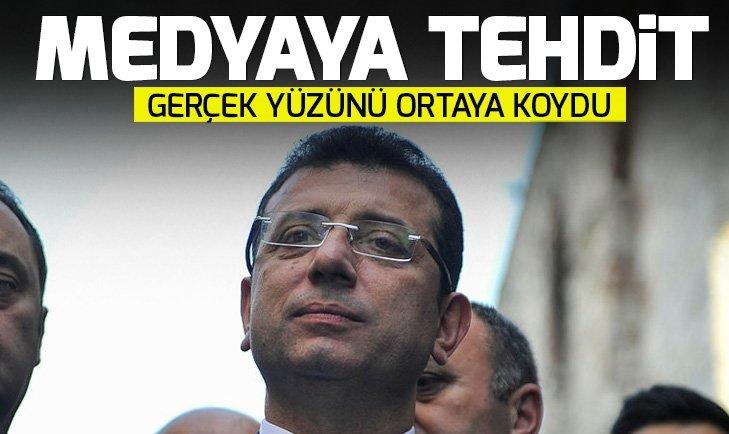 Millet İttifakı İstanbul adayı İmamoğlundan medyaya tehdit