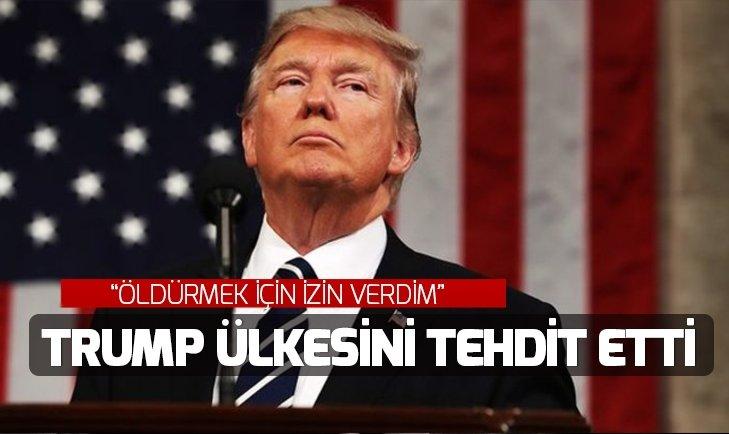 TRUMP YİNE ÜLKESİNİ TEHDİT ETTİ!