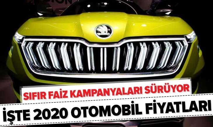 SIFIR FAİZ KAMPANYASI SÜRÜYOR! İŞTE 2020 SIFIR OTOMOBİL FİYATLARI...