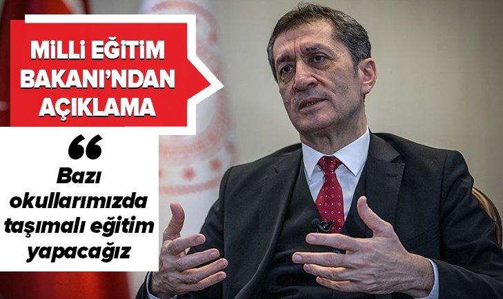 MİLLİ EĞİTİM BAKANI'NDAN DEPREM AÇIKLAMASI