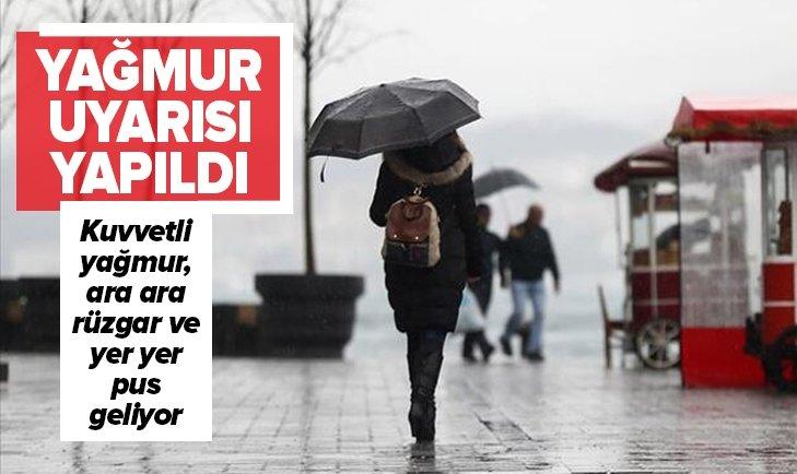 METEOROLOJİ'DEN YAĞMUR UYARISI!