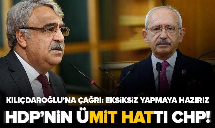 HDP'li Mithat Sancar'dan CHP'ye mesaj: Eksiksiz yapmaya hazırız!