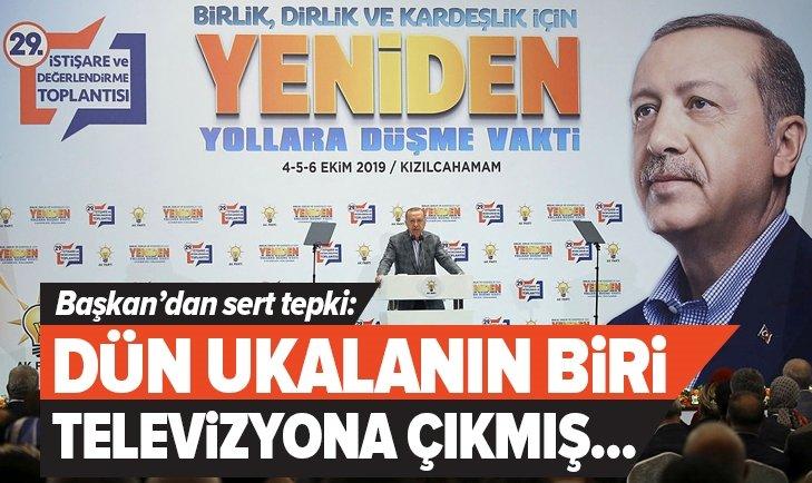 """Başkan Erdoğan: """"Dün televizyonda bir ukala çıkmış…"""""""