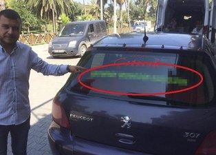Eşinden ayrılınca otomobiline öyle bir şey yazdırdı ki! Görenler hayrete düştü