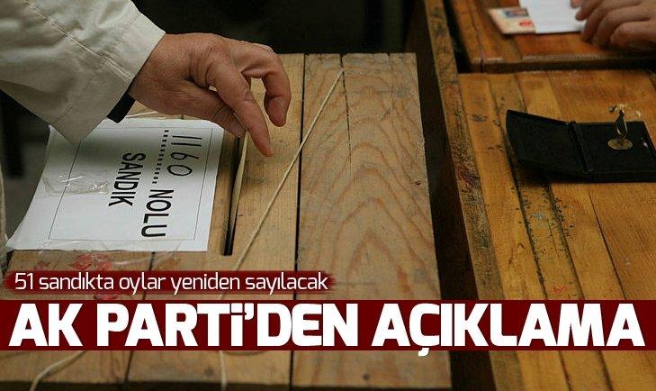YSK toplantısının ardından AK Parti'den açıklama