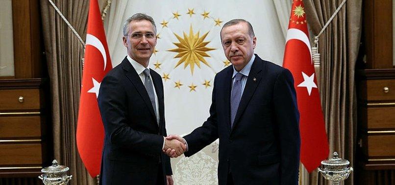 CUMHURBAŞKANI ERDOĞAN STOLTENBERG'İ KABUL ETTİ