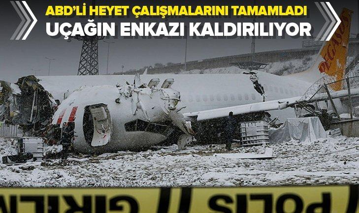 Son dakika: 3 kişinin öldüğü 180 kişinin yaralandığı Pegasus uçağının enkazı kaldırılıyor |Video