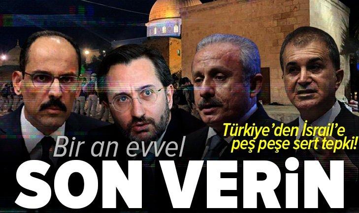 Son dakika: Türkiye'den İsrail'in Mescid-i Aksa saldırısına sert tepkiler: Şiddetle kınıyoruz