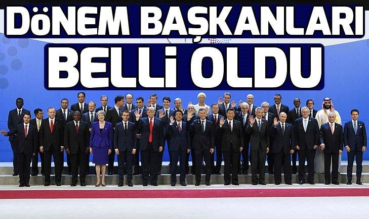 G-20'DE 2019 İLE 2020 YILININ DÖNEM BAŞKANLARI BELLİ OLDU