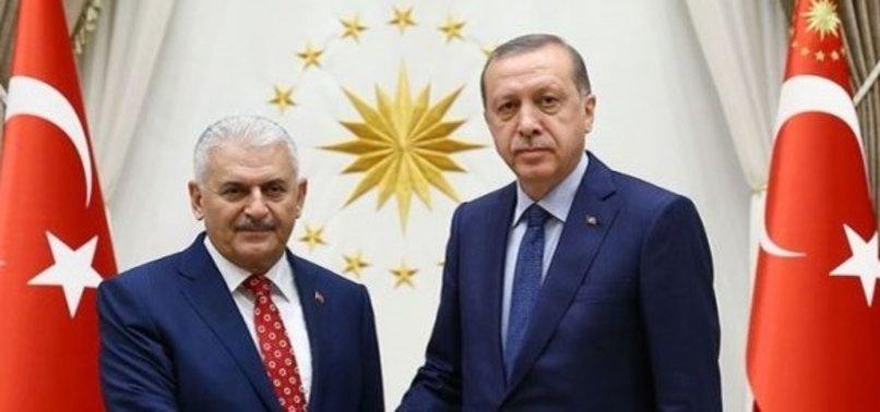 CUMHURBAŞKANI ERDOĞAN, BAŞBAKAN YILDIRIM'I KABUL ETTİ
