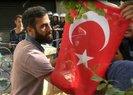 Nusaybin'de HDP'li vekillere Türk bayraklı tepki