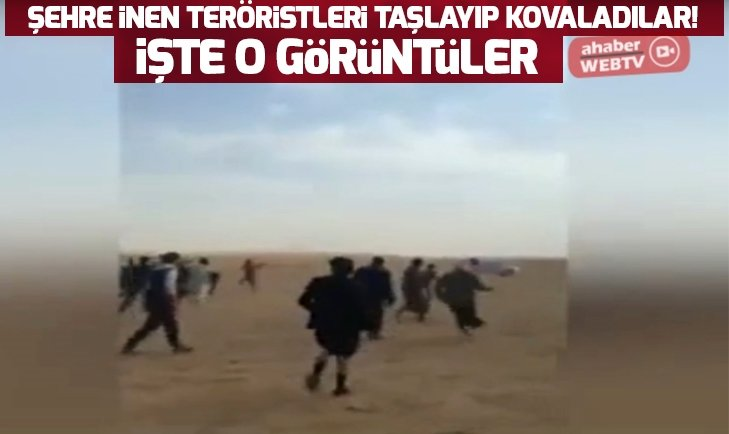 AŞİRET MENSUPLARI ŞEHRE İNEN PKK'LILARI KOVALAYIP TAŞLADI!