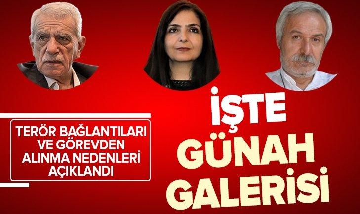 İŞTE GÖREVDEN ALINAN HDP'Lİ BAŞKANLARIN GÜNAH GALERİSİ