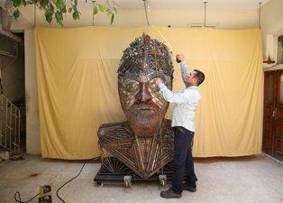'Sıfır Atık Mavi Projesi'ne destek vermek için kolları sıvadı! Ortaya sanat eseri çıktı!