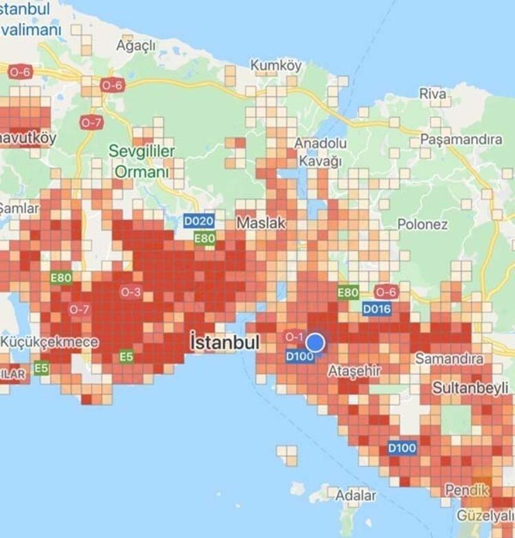 İstanbul'un koronavirüs haritası! İşte en riskli ilçeler...