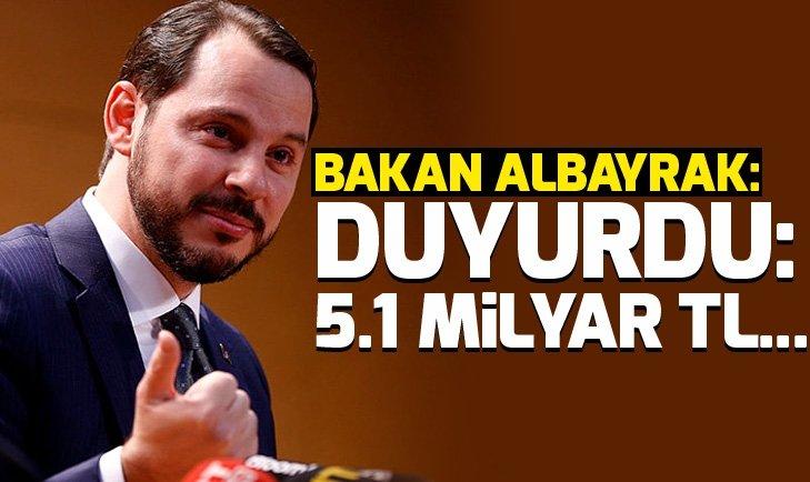 Son dakika: Bakan Berat Albayraktan bütçe açıklaması: 5.1 milyar TL...