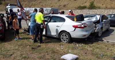 Amasya'da zincirleme trafik kazası! Yaralılar var