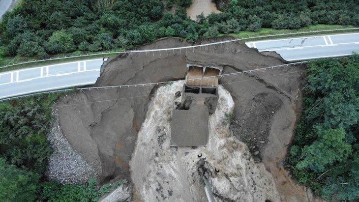 İşte jandarma aracının suya gömüldüğü bölge!