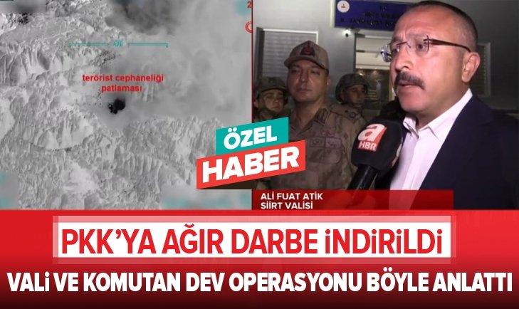 SİİRT'TE 7 PKK'LI ÖLDÜRÜLDÜ! VALİ ATİK OPERASYONU ANLATTI