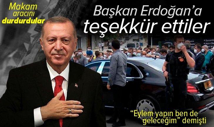 Son dakika: Başkan Erdoğan'a Burhaniye Mahallesi sakinlerinden teşekkür! Eylem yapın ben de geleceğim demişti