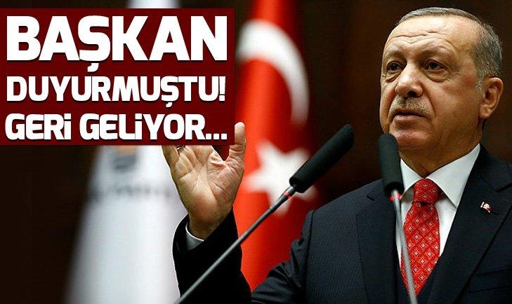 Başkan Erdoğan duyurmuştu! 'Tanzim satış' geri geliyor