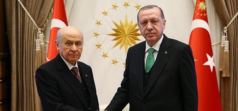 Son dakika: Başkan Erdoğan Devlet Bahçeli ile görüştü!