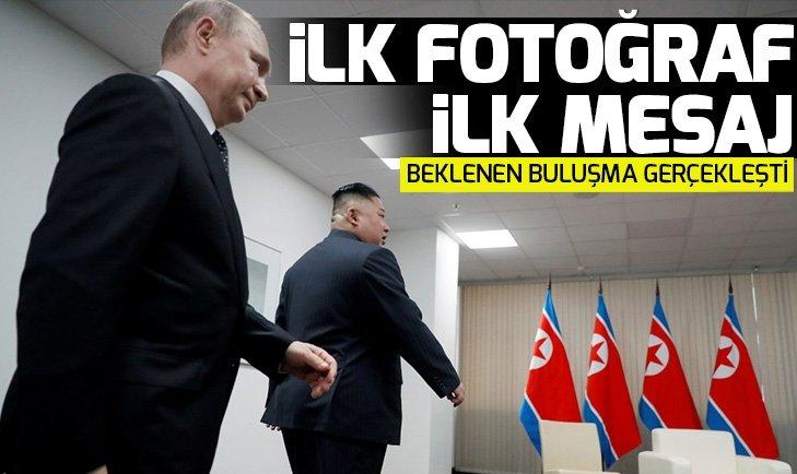 PUTİN, KİM JONG-UN İLE BİR ARAYA GELDİ