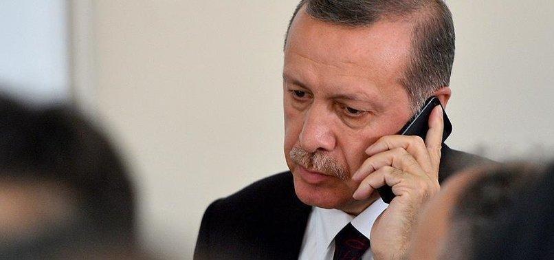 CUMHURBAŞKANI ERDOĞAN'DAN PEŞ PEŞE TELEFON GÖRÜŞMELERİ