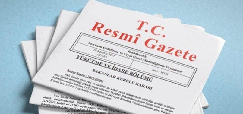 ATAMA KARARI RESMİ GAZETE'DE