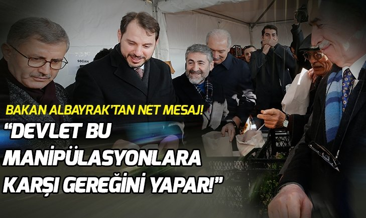 BAKAN ALBAYRAK'TAN 'TANZİM' SATIŞ AÇIKLAMASI!