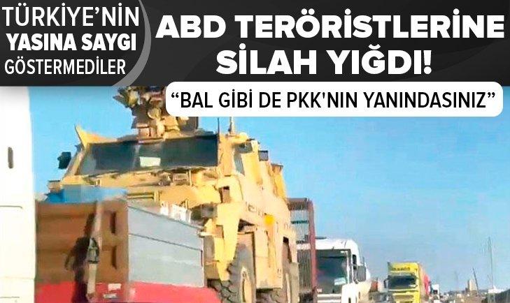ABD PKK'lı teröristlere silah yığdı!