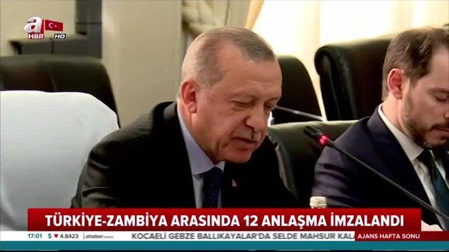 Başkan Erdoğan müjdeyi Zambiya'dan verdi